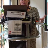 Gina Ebner, EAEA's general secretary during the EDU-FIN Final Seminar in Brussels