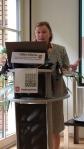 Gina Ebner, EAEA's general secretary during the EDU-FIN Final Seminar in Brussels